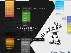 jQuery Menu Plugin Style 07 1.5 Screenshot
