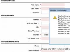 JS Auto Form Validator - JavaScript Easy-To-Setup Form Validation. 1.0.6 Screenshot