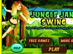 Jungle Jane Swing - Upbeat Physics Vine Swinging Acrobatics Adventure Game HD 1.1 Screenshot