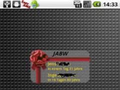 Just Another Birthday Widget 1.6 Screenshot