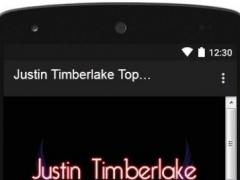 Justin Timberlake Top Lyrics 1.0 Screenshot