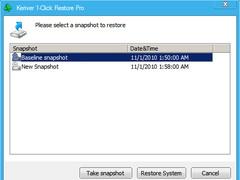 Keriver 1-Click Restore Pro 3.0 Screenshot