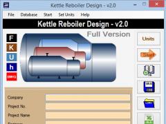 Kettle Reboiler Design 2.0.0 Screenshot