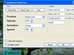 Keyboard Indicator 1.5.0.0 Screenshot