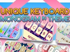 Keyboard – Monogram : Custom Color & Wallpaper Themes in The Art Designs Collection Style 1.0 Screenshot