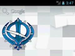 Khanda (Blue) Clock Widget 2.0 Screenshot