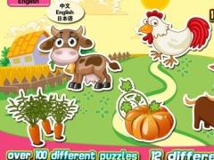 Kids' Jigsaw Puzzles Colorful Farm 123 hd 4.2.2 Screenshot