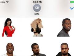 KIMOJI Stickers - Kanye + North Pack 1.0.2 Screenshot