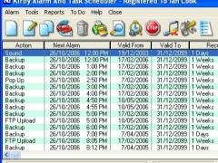 Kirby Alarm And Task Scheduler PRO 4.45 Screenshot
