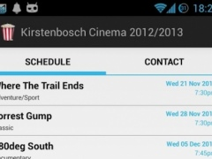 Kirstenbosch Cinema 2012/13 1.0 Screenshot