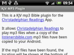 KJV MP3 Plugin for Listeners 0.9.0 Screenshot