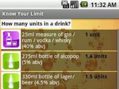 Know Your Limit: Alcohol Units 1.4 Screenshot