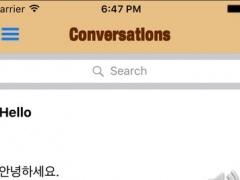 Korean Phrasebook - Learn to speak a new language 1.0 Screenshot