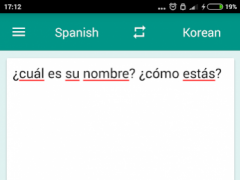 Korean-Spanish Translator 1.7.2 Screenshot