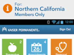 KP Preventive Care (NCAL only) 4.4.2 Screenshot