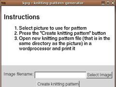 kpg - Knitting Pattern Generator 0.3 Screenshot