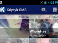 K SMS: Encrypted Messenger 2.0.1 Screenshot