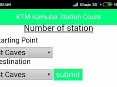 KTM Komuter Station Count 0.0.0.1 Screenshot