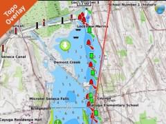 Lake George New York HD GPS fishing chart offline 1.0 Screenshot