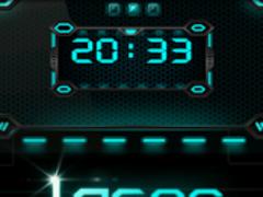 Laser Clock widget 1.0 Screenshot