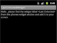 Last Unlocked Widget 1.0 Screenshot