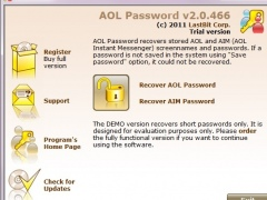 LastBit AOL Password Recovery 2.0.466 Screenshot