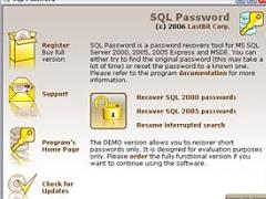 Lastbit SQL Password Recovery 2.5.593 Screenshot