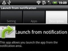 Launch from notification 0.0.4 Screenshot