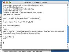 Laziza JSFL server 0.4 Screenshot