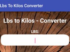Lbs to Kilos Converter 1.0 Screenshot