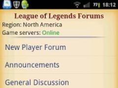 League of Legends Forums 1.4.0 Screenshot