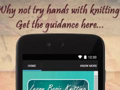 Learn Basic Knitting Tips 2.0 Screenshot