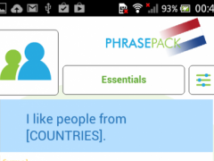 Learn Dutch Phrasebook  Screenshot