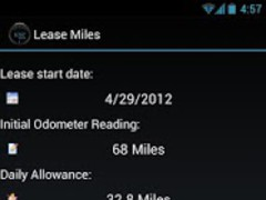 Lease Miles Widget 1.04 Screenshot