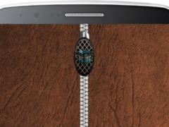 Leather Zipper Lock Screen HD 1.0 Screenshot