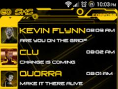Legacy Yellow Go SMS Pro Theme 1.80 Screenshot