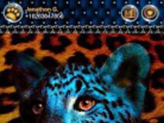 Leopard Gld Blue Theme4 GO SMS 1.0 Screenshot