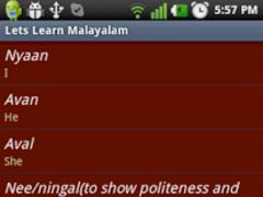 Lets Learn Malayalam 1.0 Screenshot