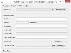 License Generation and Activation Server 1.7.1 Screenshot