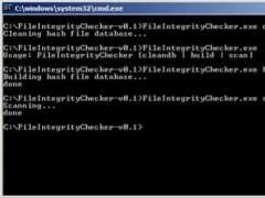 Lightweight File Integrity Checker 0.1 Screenshot