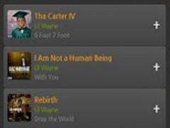 Lil Wayne Album songs music 1.0 Screenshot