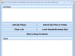 List The Contents Of Multiple Zip Files and Save As Text File Software 7.0 Screenshot