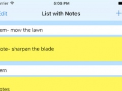 List with Notes 1.01 Screenshot