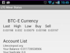 Litecoin Miner Status Free 0.1.1 Screenshot