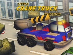 Little Crane Truck in Action Gold: 3D Fun Cartoonish Driving Adventure for Kids with Cute Graphics 1.00 Screenshot