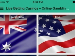 Live Betting Casinos – Online Gambling, Poker, Bingo, Blackjack, Craps and Bitcoin Casino 1.0 Screenshot