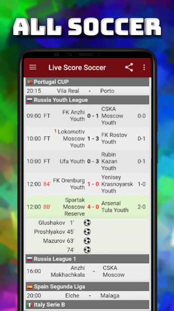Live Scores ⚽ Soccer Sport Football Free Download