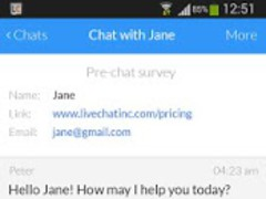 LiveChat for Android  Screenshot