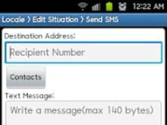 Locale Send SMS Plug-in 1.1.1 Screenshot