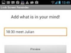 Lock Screen Reminder 1.4 Screenshot